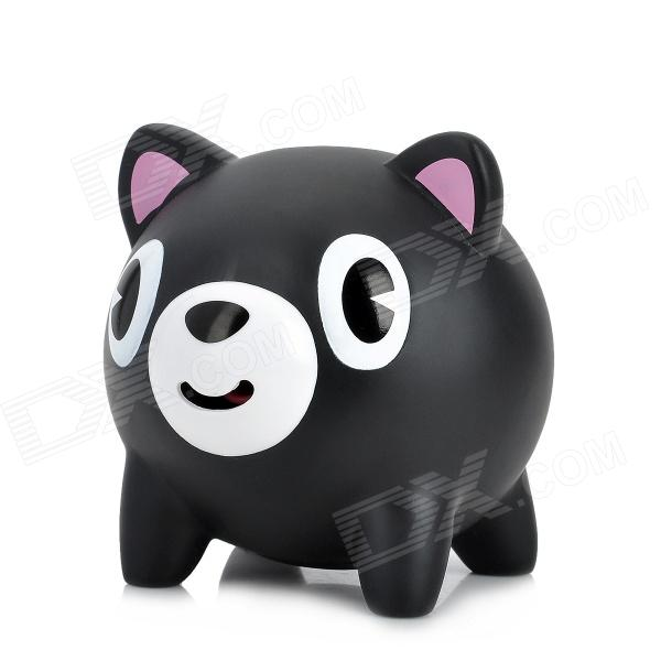 YB-06 Cute Bear Style Stress Reliving Squeeze Sound Toy - Black + White