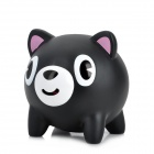 Cute Bear Design Belastungs Reliving Squeeze-Ton-Spielzeug - Black + White