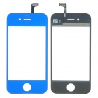 Replacement Electroplating Touch Glass Screen for iPhone 4 - Deep Blue