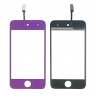 Replacement Electroplating Touch Glass Screen for iPod Touch 4 - Purple