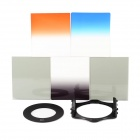 SZSYDZ201305 8-in-1 Gradual ABS Lens Filters + Mount + Ring for 55mm Lens Camera - Black