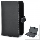 Protective 80-Key Micro USB Wired Keyboard PU Leather Case w/ Stand / Stylus for 7