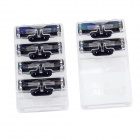 Genuine Gillette 82152661 Replacement 3-Blade Razor Cartridge - Black + Silver (6 PCS)