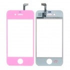 Replacement Electroplating Touch Glass Screen for iPhone 4 - Pink + Transparent