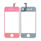 Replacement Electroplating Touch Glass Screen for iPhone 4 - Deep Pink