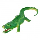 Cute Silicone Crocodile Toy - Yellow + Green