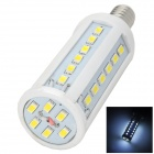 E14 8W 400lm 6500K 42-SMD 5630 LED White Light Lamp w/ E27 Converter - White (85~265V)