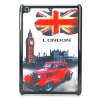 Oil Painting Style Protective Back Case for Ipad MINI - Black + Red