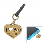 """I LOVE YOU"" Style Anti-Dust Plug for 3.5mm Audio Jack - Bronze"