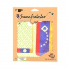 National Flag Pattern Protector + Back Sticker Set for iPhone 5 - Red + White + Blue