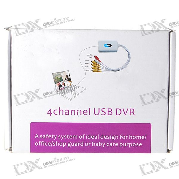 EzCAP 4-Channel/4-Input USB DVR Video Capture/Surveillance Dongle (PAL/NTSC)
