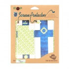 Finland National Flag Pattern Screen Protector + Back Sticker for Iphone 5 - Blue + White