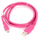 USB to Micro USB Charging Cable for Samsung / HTC / LG / Nokia / Motorola / Xiaomi - Deep Pink