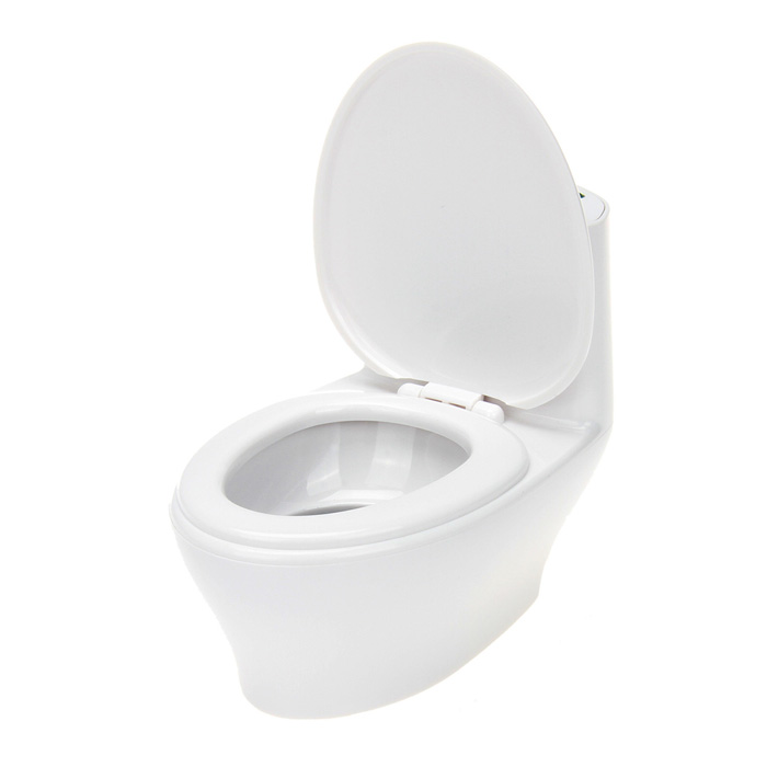Creative Mini Flush Toliet Shaped Rechargeable USB Media Player Speaker w/ SD - White