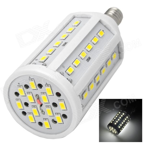E14 15W 600lm 6500K 60-SMD 5630 LED White Light Lamp w/ E14 Female to E27 Male Adapter - White wholesale 5 x plastic 5 pcs f type female to female coaxial barrel coupler adapter connector