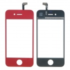 Replacement Electroplating Touch Glass Screen for iPhone 4 - Red