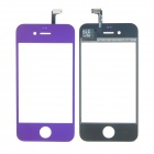 Replacement Electroplating Touch Glass Screen for iPhone 4 - Purple + Transparent