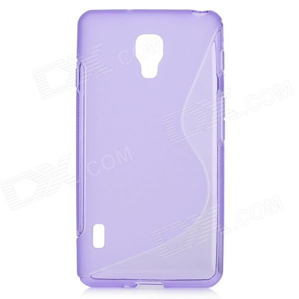 S Style Protective TPU Back Case for LG Optimus F7 - Purple s style protective tpu back case for lg g2 optimus g fluorescent red