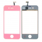 Replacement Electroplating Touch Glass Screen for iPhone 4 - Orange