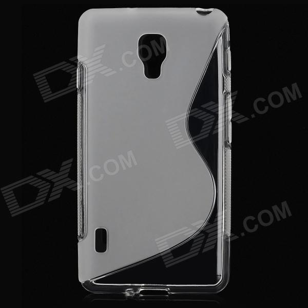 S-shape Pattern Protective TPU Back Case for LG Optimus F7 - Translucent s pattern protective plastic case for lg nexus 5 e980 translucent grey
