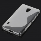 S-shape Pattern Protective TPU Back Case for LG Optimus F7 - Translucent