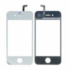 Replacement Electroplating Touch Glass Screen for iPhone 4 - Silver + Transparent