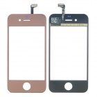Replacement Electroplating Touch Glass Screen for iPhone 4 - Silver Brown