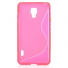 """""""S"""" Style Protective TPU Back Case for LG Optimus F7 - Deep Pink"""