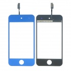 Replacement Electroplating Touch Glass Screen for iPod Touch 4 - Deep Blue