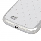 Baby's Breath Protective Plastic Back Case for Samsung Galaxy S4 / i9500 - White + Silver