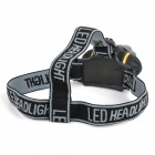 788 60lm 3-Mode Neutral White Light LED Headlamp - Black + Yellow (3 x AAA)