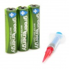 Environmental Friendly 1.5V 60mA Water AA Batteries Set - Green (3 PCS)