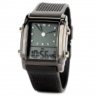 SKMEI 0814G Classic Sports Analog + Digital Display Wrist Watch - Black (1 x CR2025)