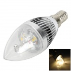 Samvol Candle Sharp E14 3W 240lm 3200K 3-LED Warm White Bulb - Silver (AC 85~265V)