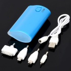External 5600mAh Power Battery Charger w/ 4-LED 2-Mode Flashlight for iPhone / Cell Phone - Blue