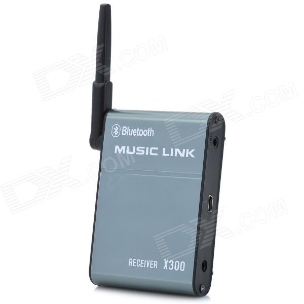 X300 Bluetooth V3.0 + EDR Hi-Fi de audio del receptor Dongle - Deep Gris + Negro