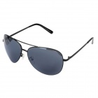Fashionable Resin Lens UV400 Protection Sunglasses Goggles - Black