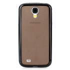 Protective Frosted PC + TPU Back Case for Samsung Galaxy S4 i9500 - Black + Grey