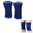 PENGYUE 666 Outdoor Bicycling Knitting Knee Support - Deep Blue (Pair)