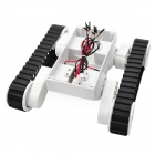 VRS011 Rover5 Tank Robot Chassis w/ 2-Wheel Drive / 2-Encoder / Caterpillar Track - White + Black