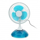 GQ-173 Mini Portable USB 2-Mode 3-Blade Fan - White + Blue