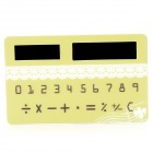 F-1 Mini Slim Credit Card Style Solar Power Pocket Calculator - Green