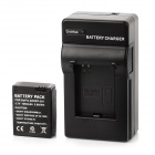 "LTXJ Replacement 3.7V ""1050mAh"" Li-ion Battery w/ Car Charger + EU Plug for GoPro HD HERO 3 - Black"