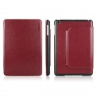ENKAY ENK-3314 Protective PU Leather Case w/ Stand for Ipad MINI - Red