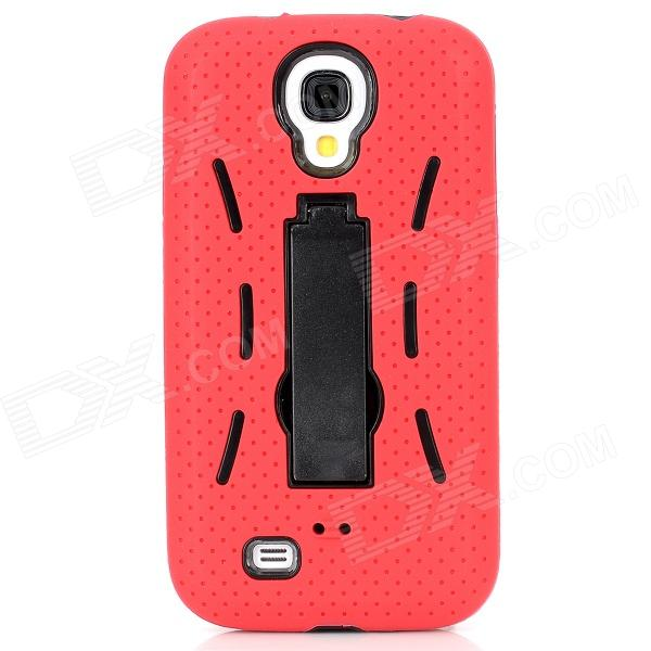Protective ABS + Silicone Back Case w/ Stand for Samsung Galaxy S4 i9500 - Red + Black стоимость