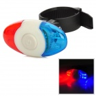 Bicycle Bike 4-LED Blue + Red Light Security Light Lamp - Red + Blue + White
