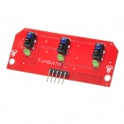 Three Line Tracking Sensor Module Board - Red + Black