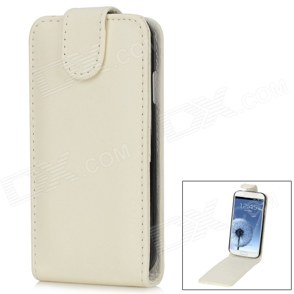 Protective Flip-Open PU Leather + Plastic Case for Samsung Galaxy S4 i9500 - White + Black