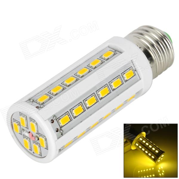 E27 8W 500lm 3500K 42-SMD 5630 LED Warm White Light Lamp w/ E27 Female to E14 Male Adapter - White wholesale 5 x plastic 5 pcs f type female to female coaxial barrel coupler adapter connector
