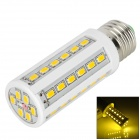 E27 8W 500lm 3500K 42-SMD 5630 LED Warm White Light Lamp w/ E27 Female to E14 Male Adapter - White